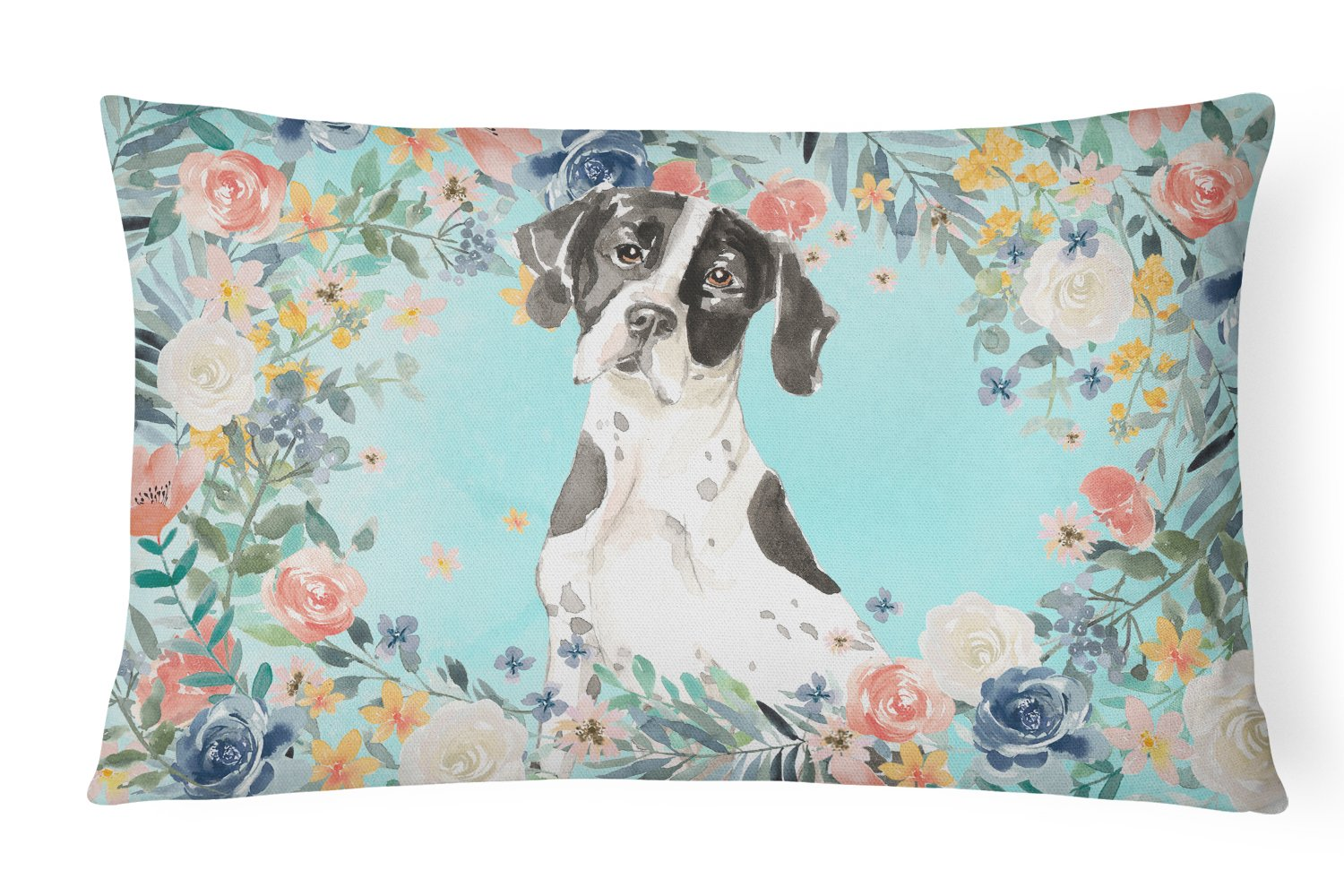 Buy this English Pointer Canvas Fabric Decorative Pillow CK3427PW1216