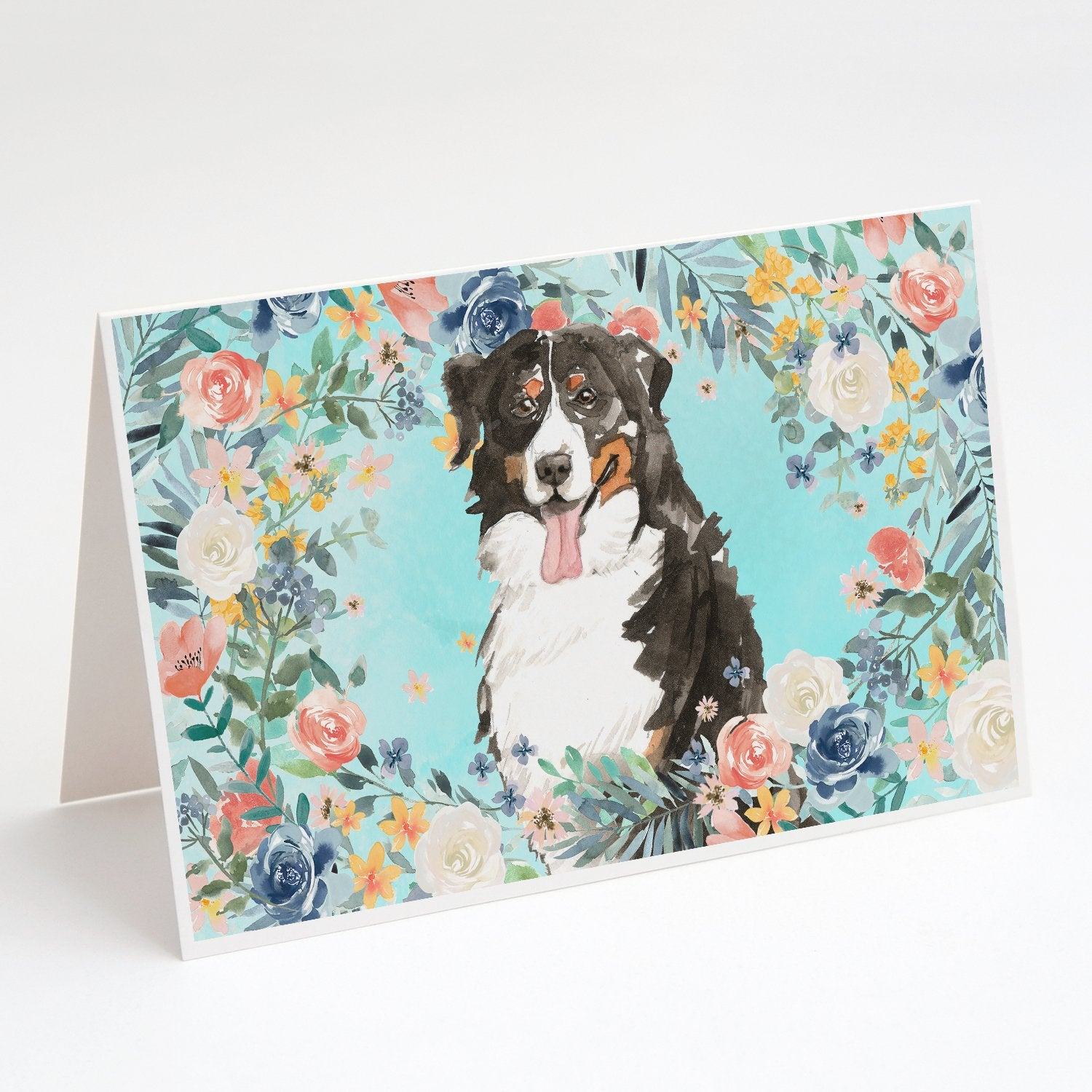 Buy this Bernese Mountain Dog Greeting Cards and Envelopes Pack of 8