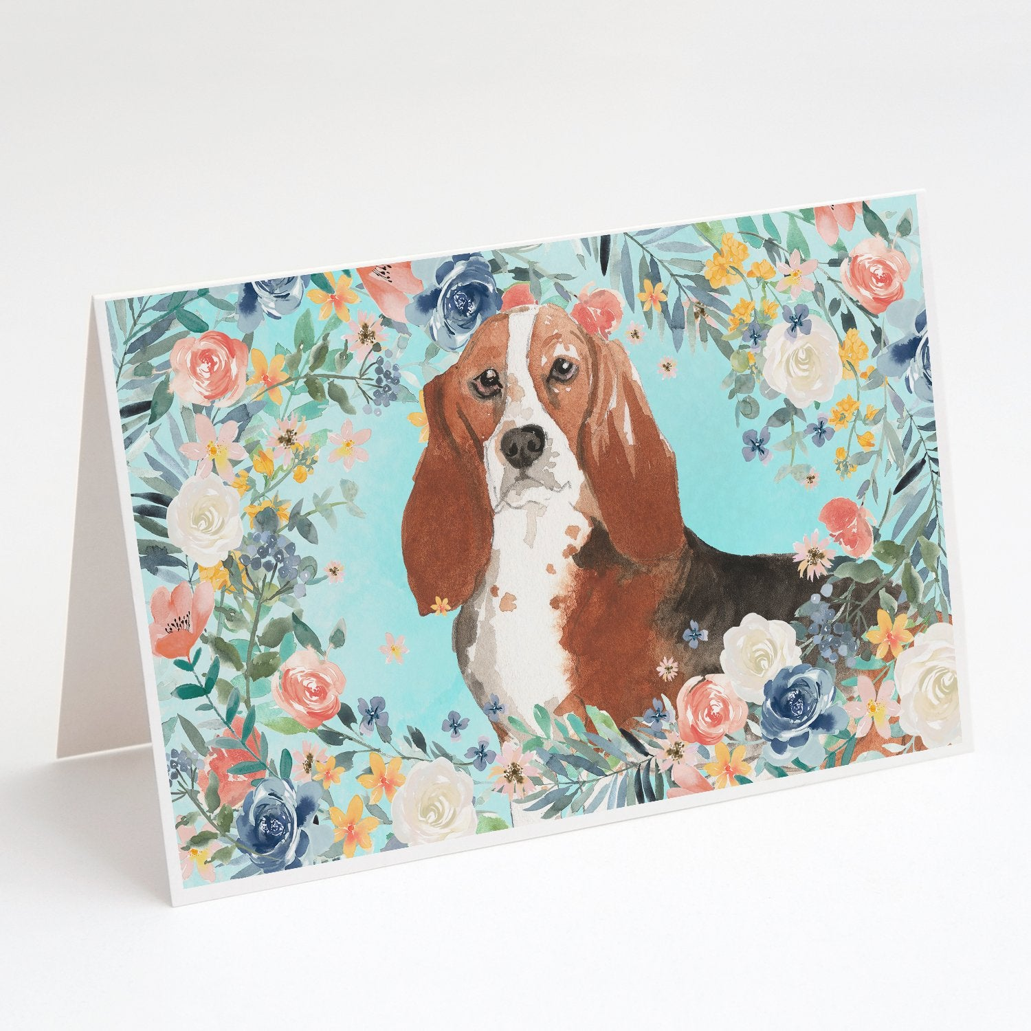 Buy this Basset Hound Greeting Cards and Envelopes Pack of 8