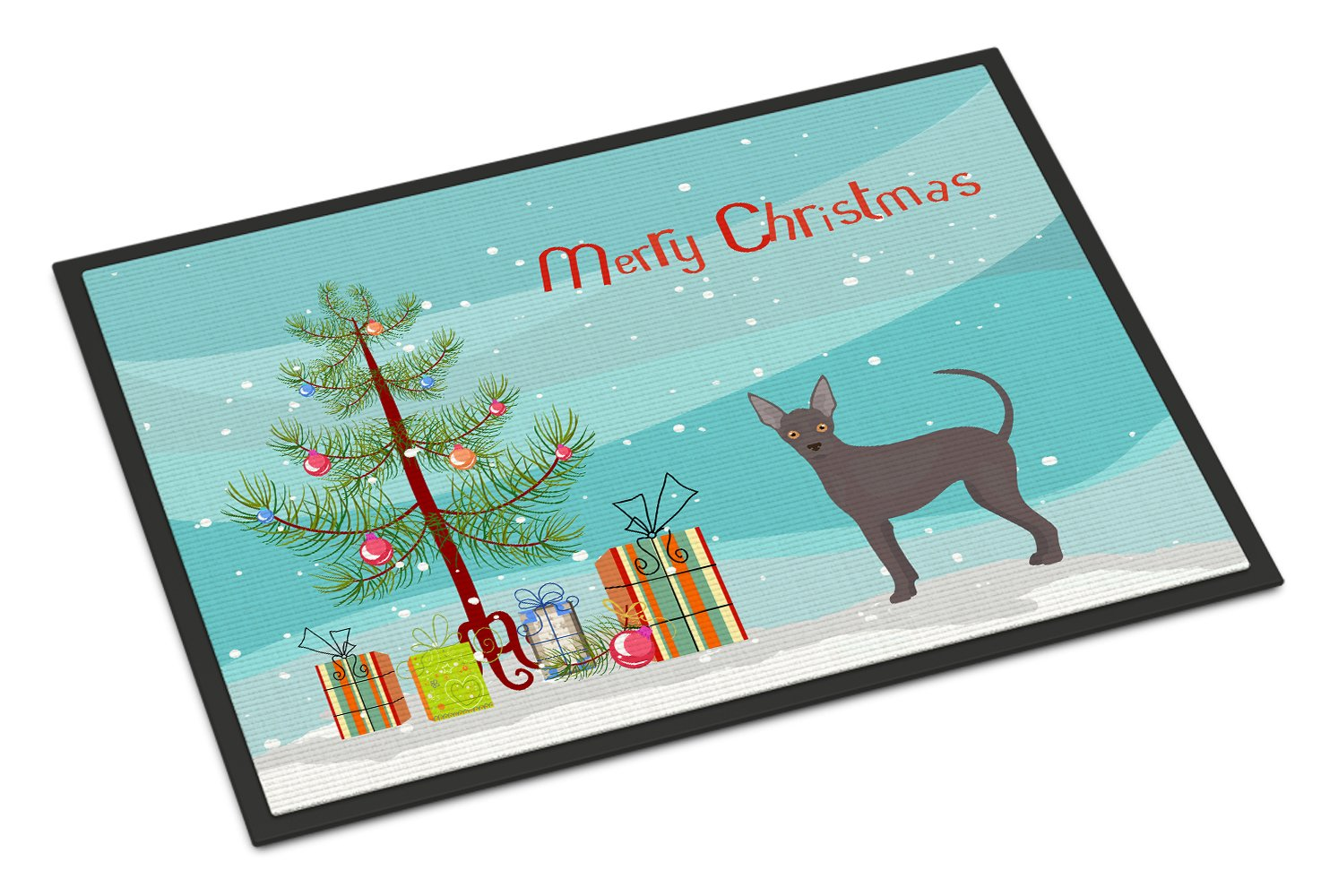 Buy this Abyssinian or African Hairless Dog Christmas Tree Indoor or Outdoor Mat 24x36 CK3438JMAT