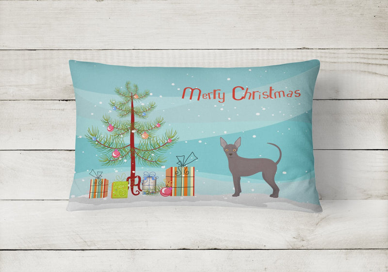 Buy this Abyssinian or African Hairless Dog Christmas Tree Canvas Fabric Decorative Pillow CK3438PW1216