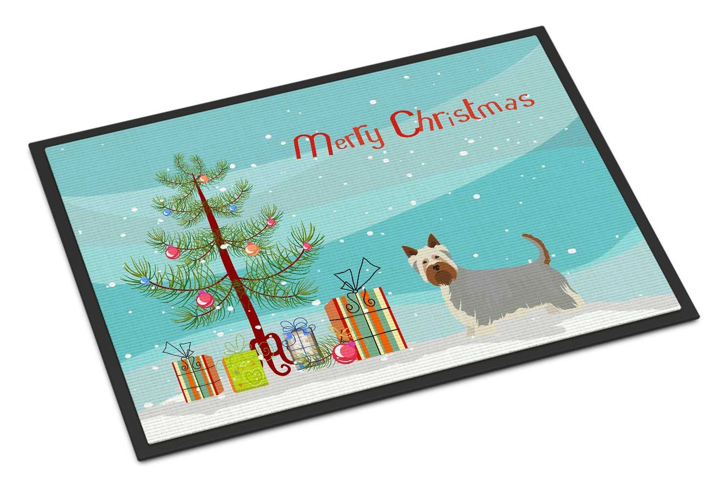 Australian Silky Terrier Christmas Tree Indoor or Outdoor Mat 24x36 CK3443JMAT by Caroline's Treasures
