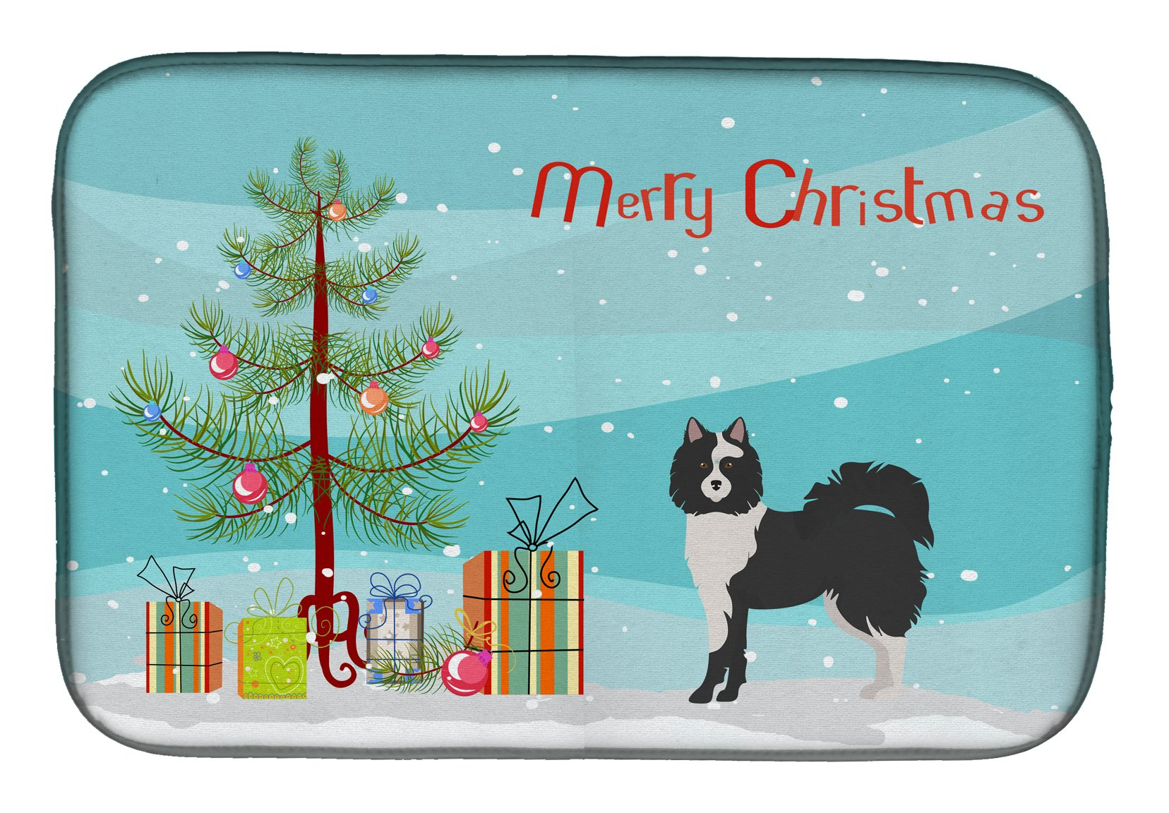 Black and White Elo dog Christmas Tree Dish Drying Mat CK3452DDM by Caroline's Treasures