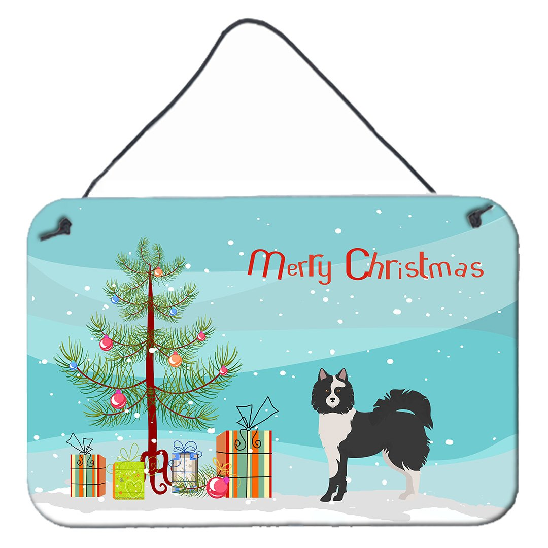 Black and White Elo dog Christmas Tree Wall or Door Hanging Prints CK3452DS812 by Caroline's Treasures