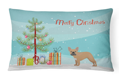 French Bulldog Christmas Tree Canvas Fabric Decorative Pillow CK3455PW1216 by Caroline's Treasures