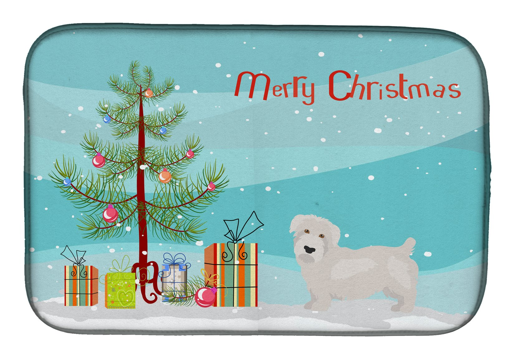 Glen of Imal Christmas Tree Dish Drying Mat CK3457DDM by Caroline's Treasures