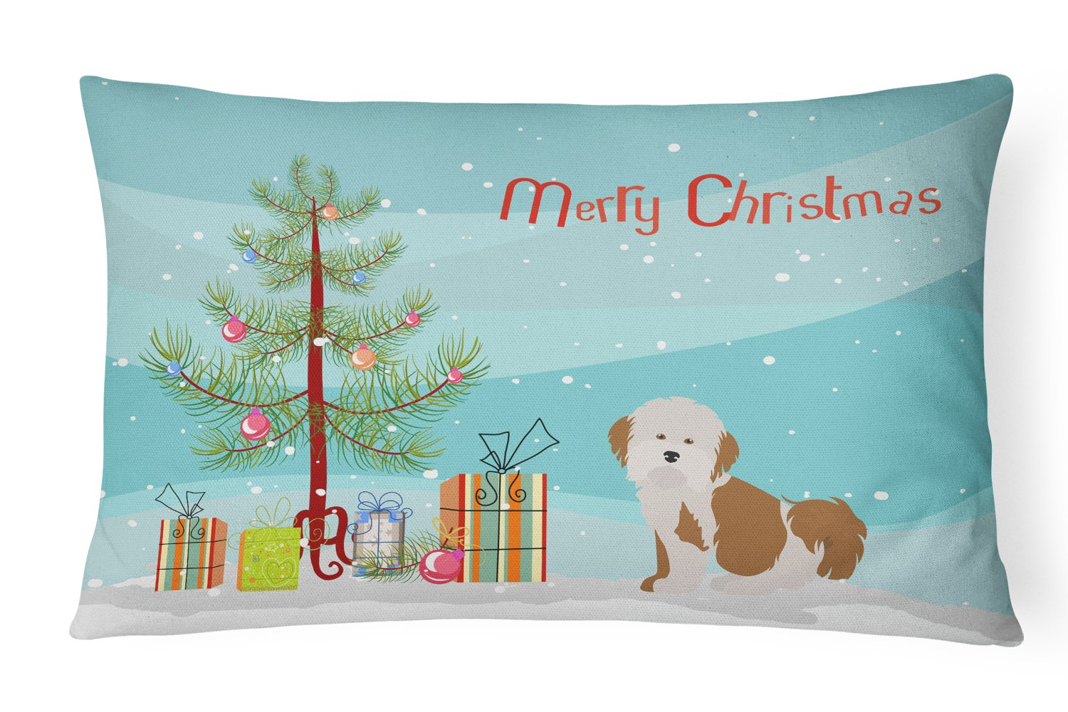 Havanese Christmas Tree Canvas Fabric Decorative Pillow CK3458PW1216 by Caroline's Treasures