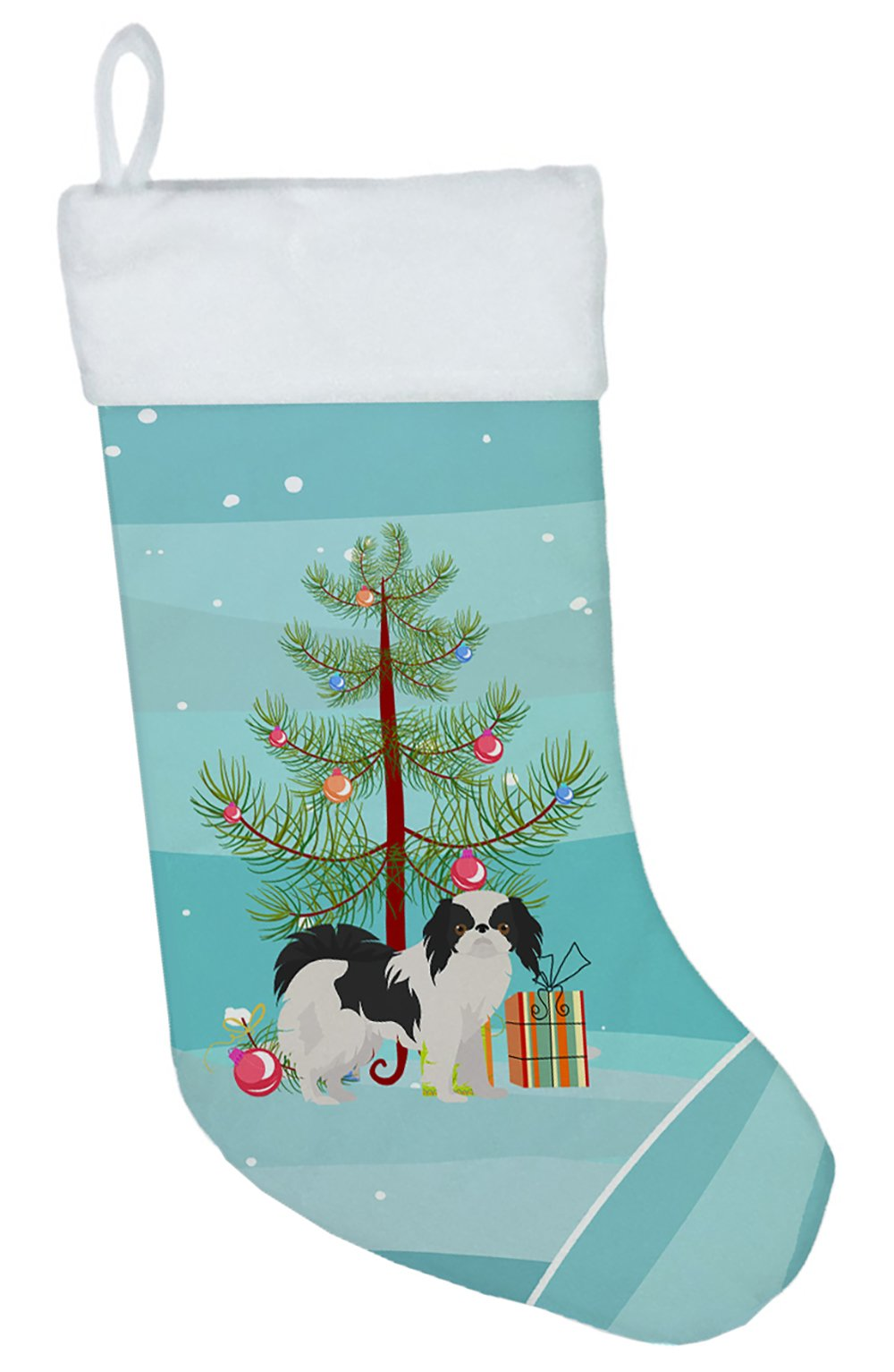 Japanese Chin Christmas Tree Christmas Stocking CK3462CS by Caroline's Treasures