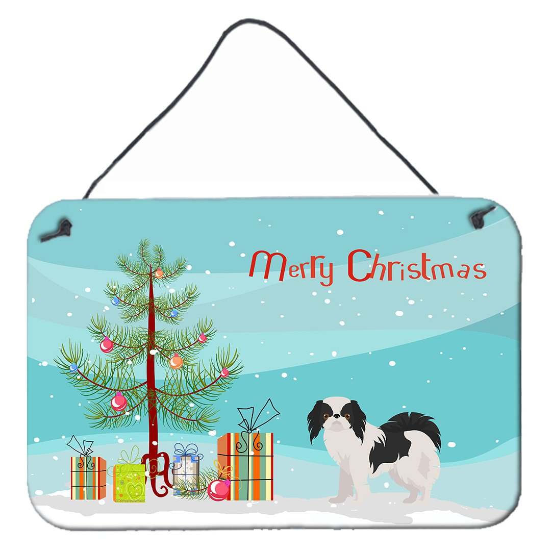 Japanese Chin Christmas Tree Wall or Door Hanging Prints CK3462DS812 by Caroline's Treasures