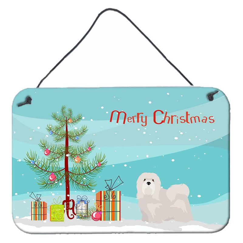 Buy this White Lhasa Apso Christmas Tree Wall or Door Hanging Prints CK3469DS812