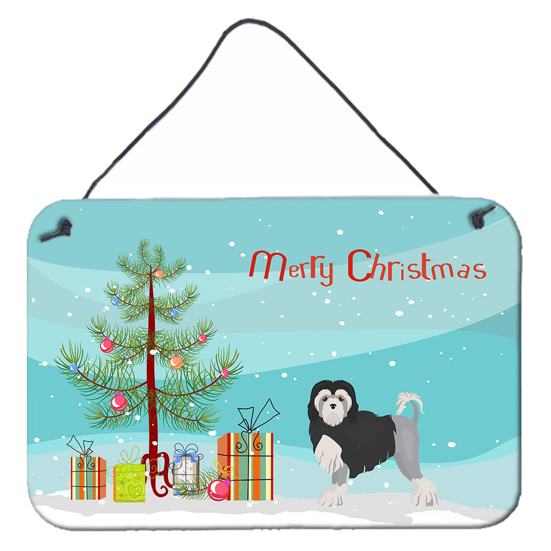Buy this Löwchen or Little Lion Dog Christmas Tree Wall or Door Hanging Prints CK3470DS812