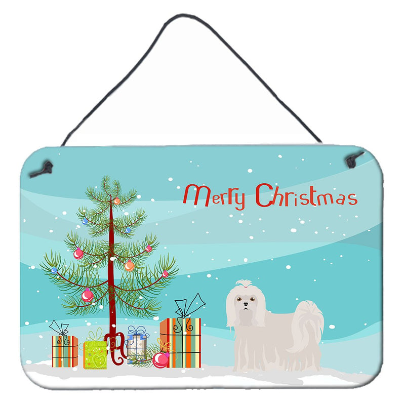 Buy this Maltese Christmas Tree Wall or Door Hanging Prints CK3471DS812