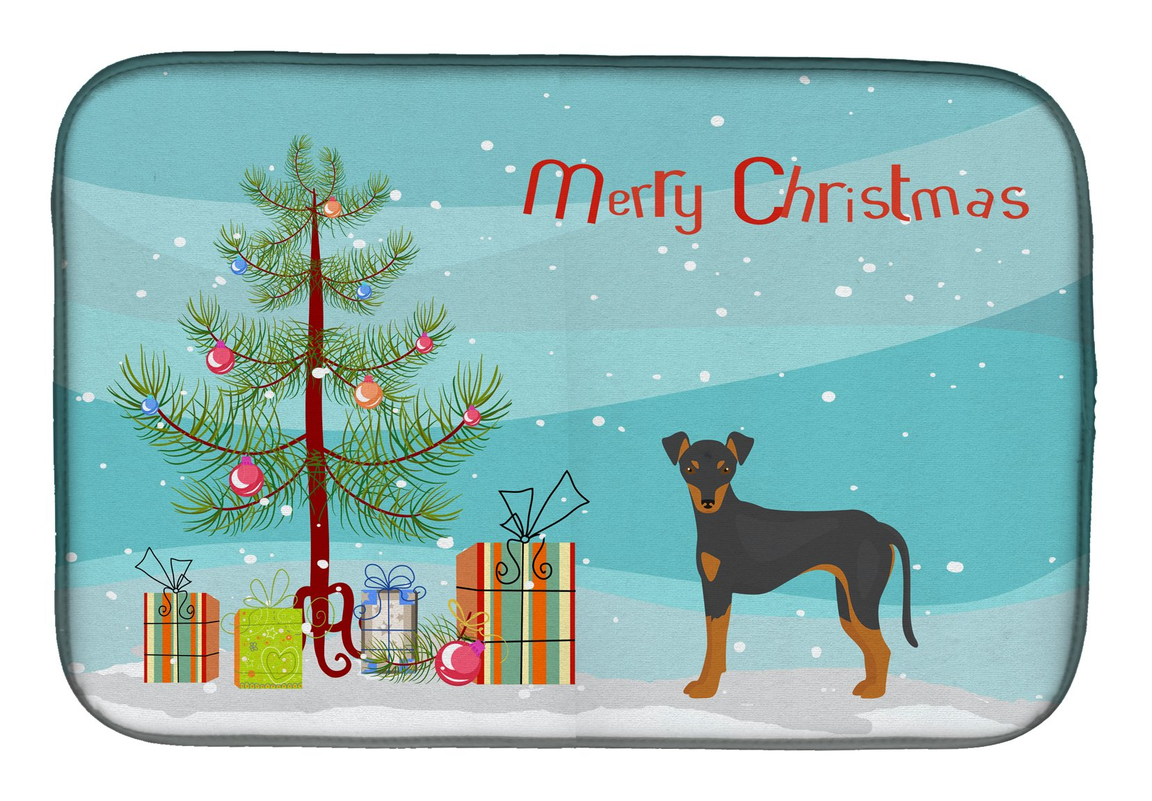 Manchester Terrier Christmas Tree Dish Drying Mat CK3472DDM by Caroline's Treasures