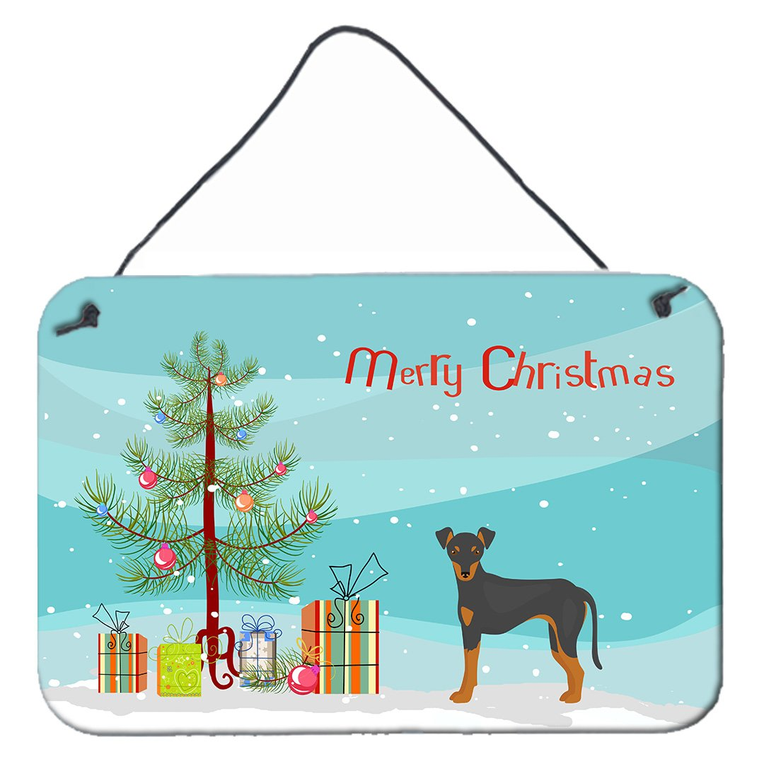 Manchester Terrier Christmas Tree Wall or Door Hanging Prints CK3472DS812 by Caroline's Treasures