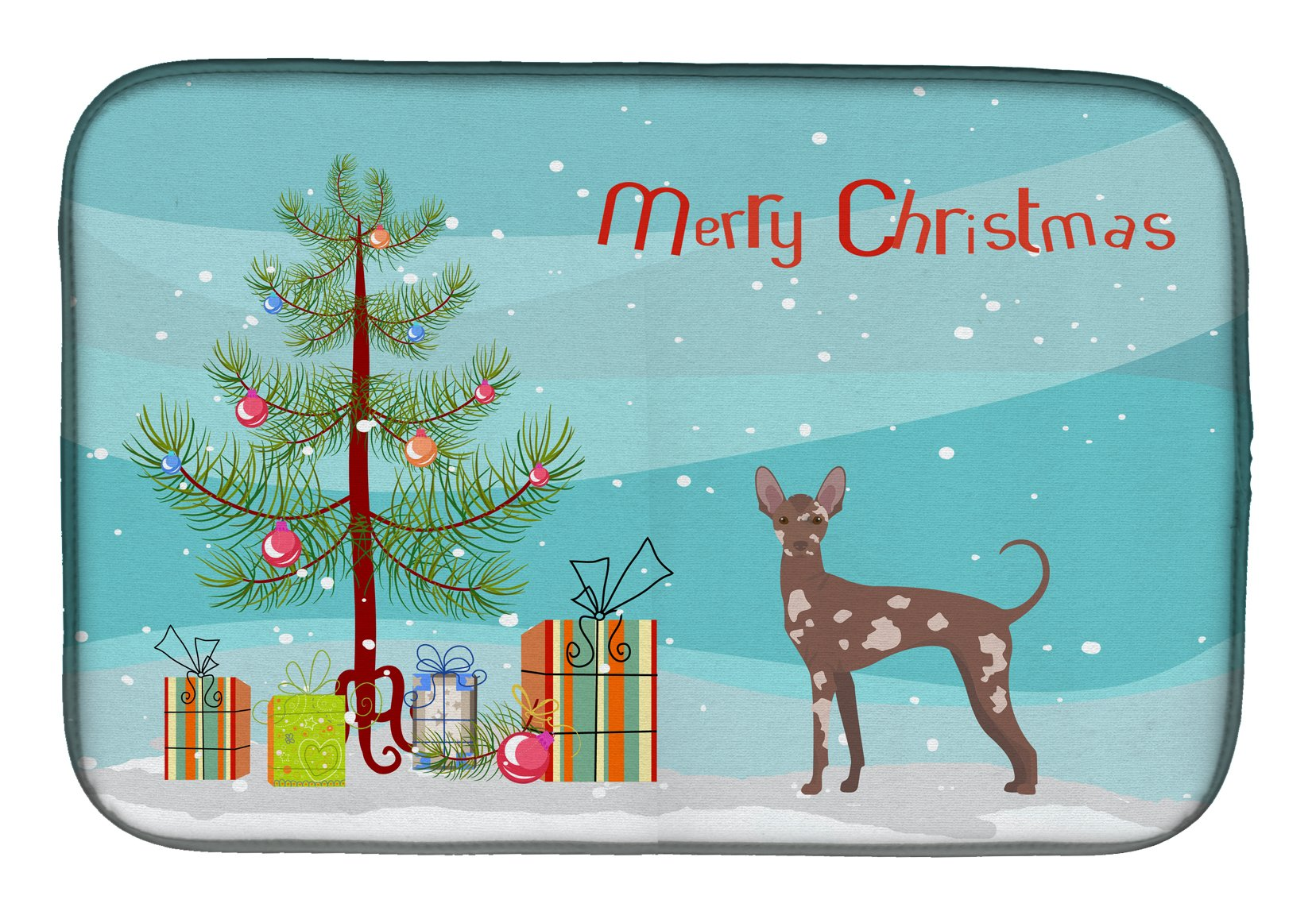 Buy this Mexican Hairless Dog Christmas Tree Dish Drying Mat CK3473DDM