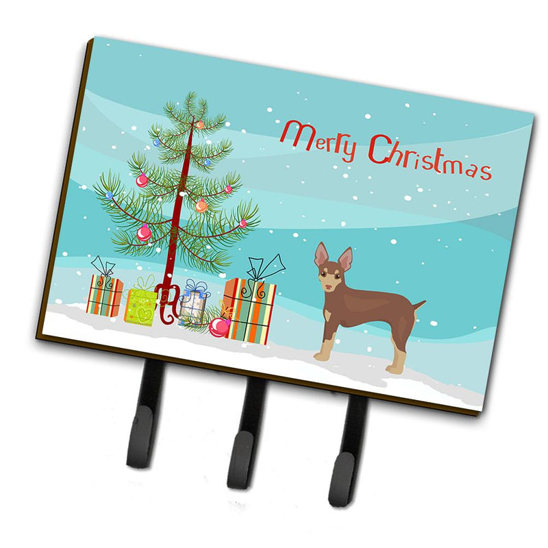 Buy this Miniature Fox Terrier Christmas Tree Leash or Key Holder CK3474TH68