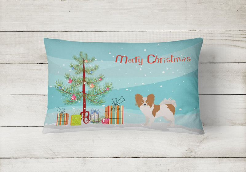 Buy this Papillon Christmas Tree Canvas Fabric Decorative Pillow CK3476PW1216