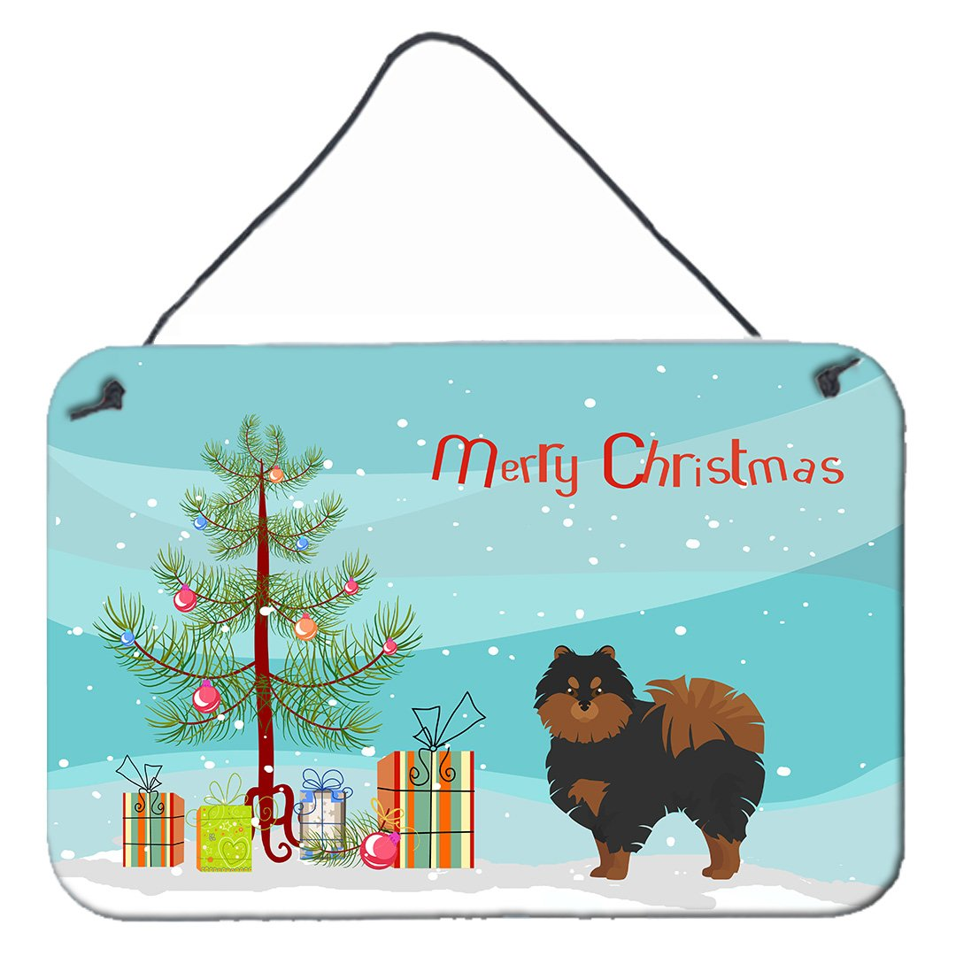 Buy this Pomeranian Christmas Tree Wall or Door Hanging Prints CK3477DS812