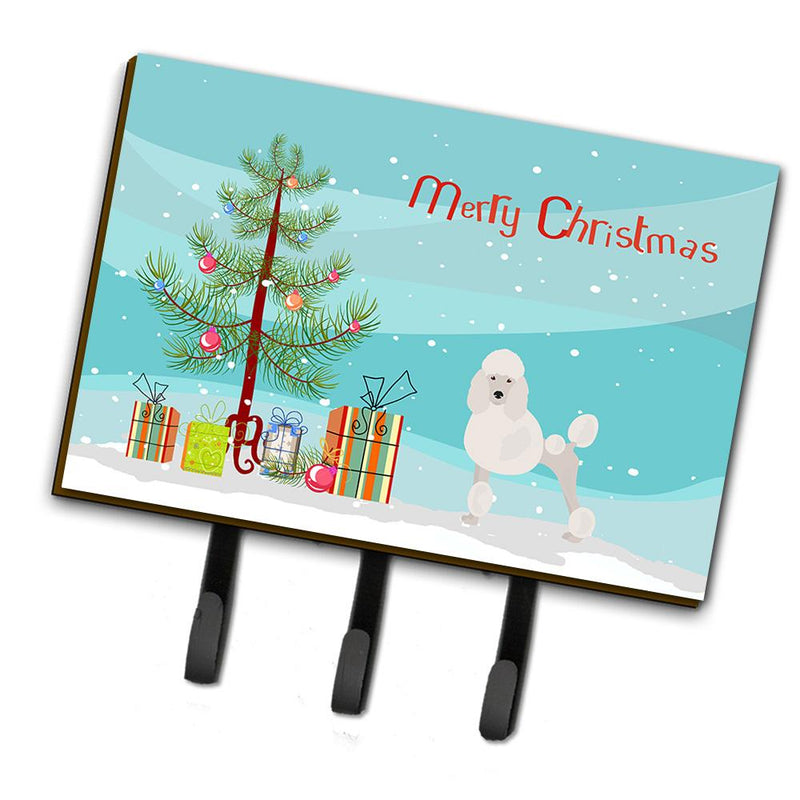Buy this Miniature Poodle Christmas Tree Leash or Key Holder CK3478TH68