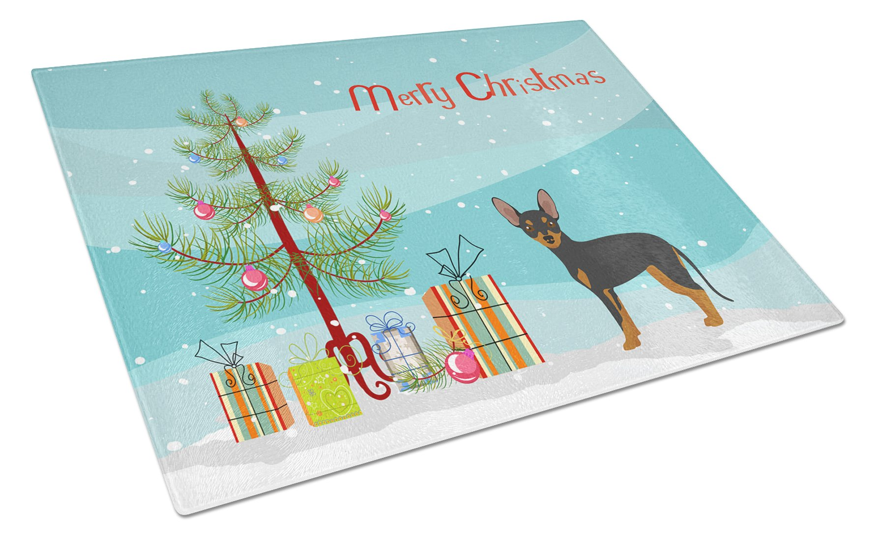 Buy this Prague Ratter Christmas Tree Glass Cutting Board Large CK3480LCB