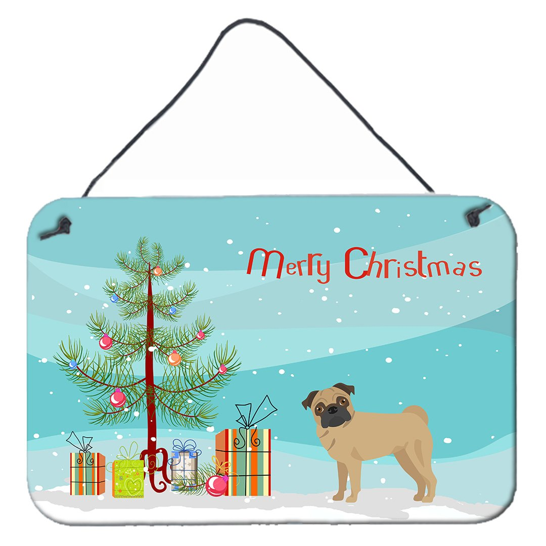 Buy this Pug Christmas Tree Wall or Door Hanging Prints CK3481DS812