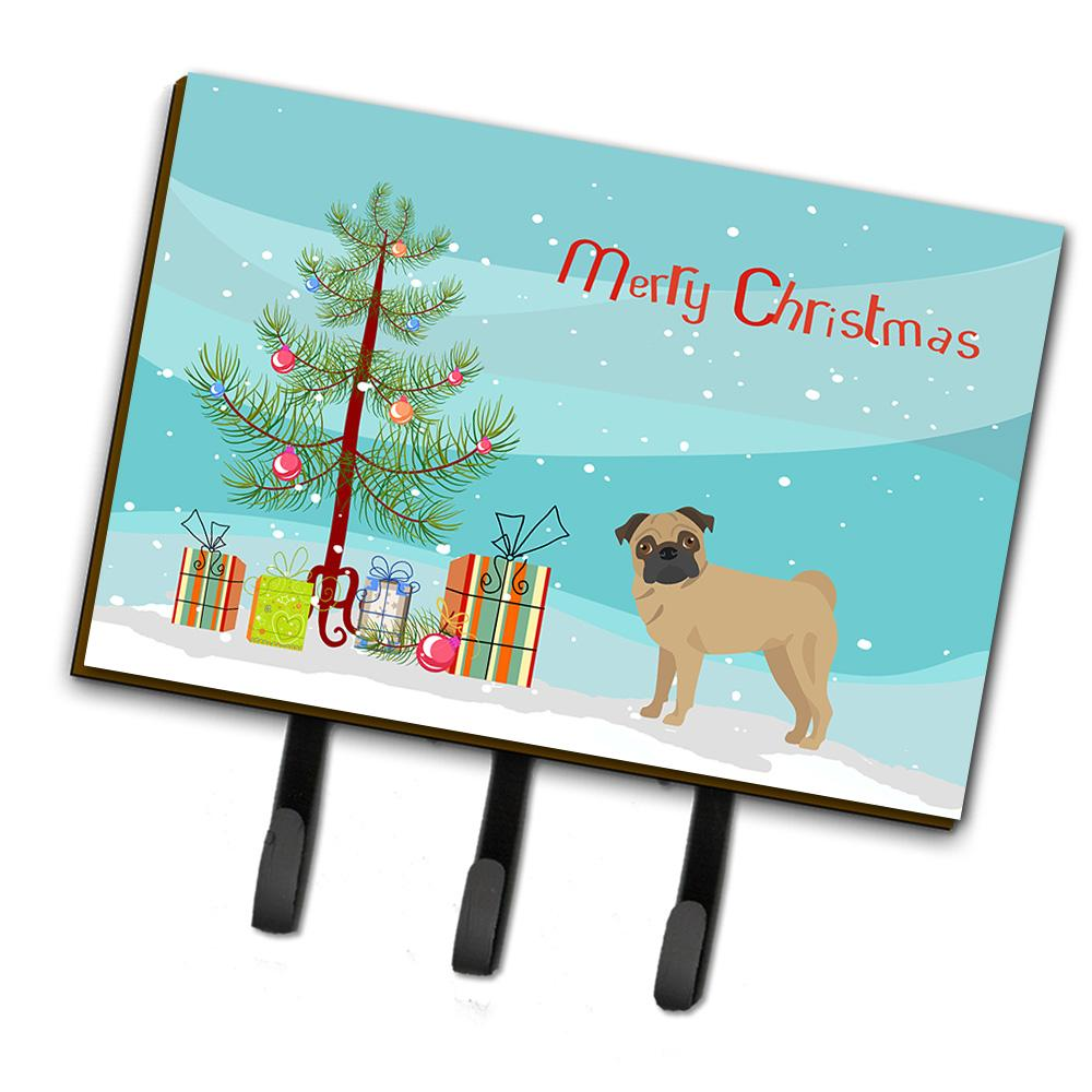 Buy this Pug Christmas Tree Leash or Key Holder CK3481TH68