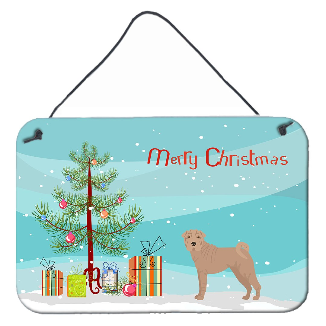 Buy this Shar Pei Christmas Tree Wall or Door Hanging Prints CK3485DS812
