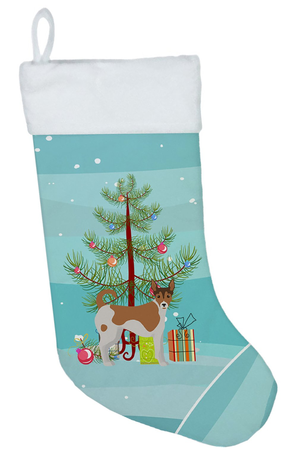 Tenterfield Terrier Christmas Tree Christmas Stocking CK3487CS by Caroline's Treasures