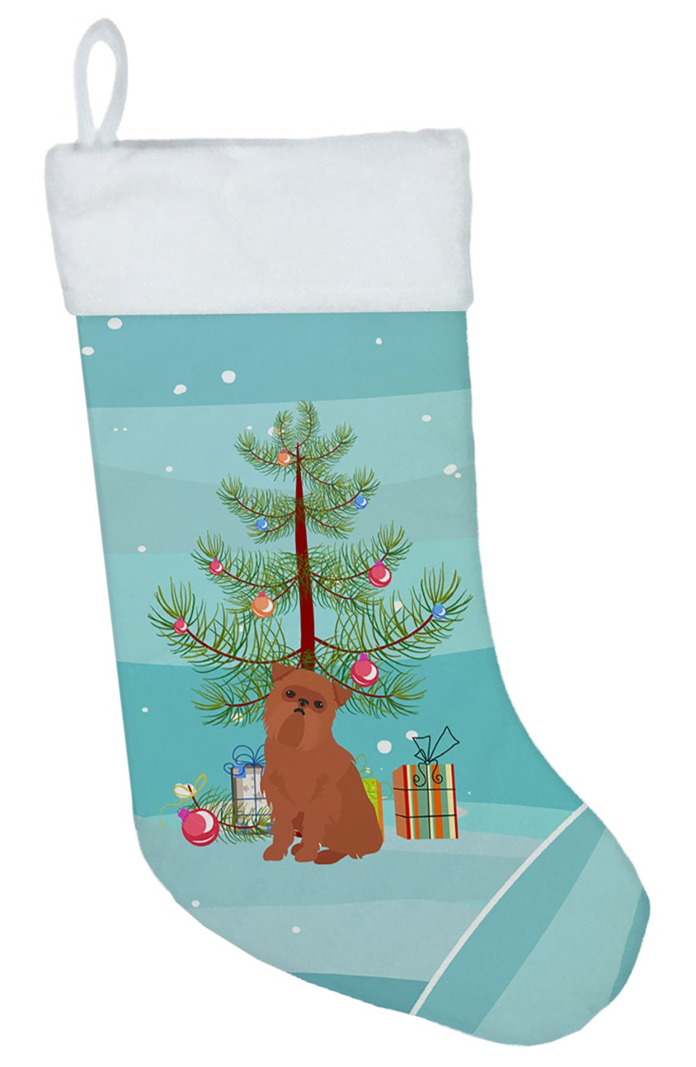 Brussels Griffon Christmas Tree Christmas Stocking CK3494CS by Caroline's Treasures
