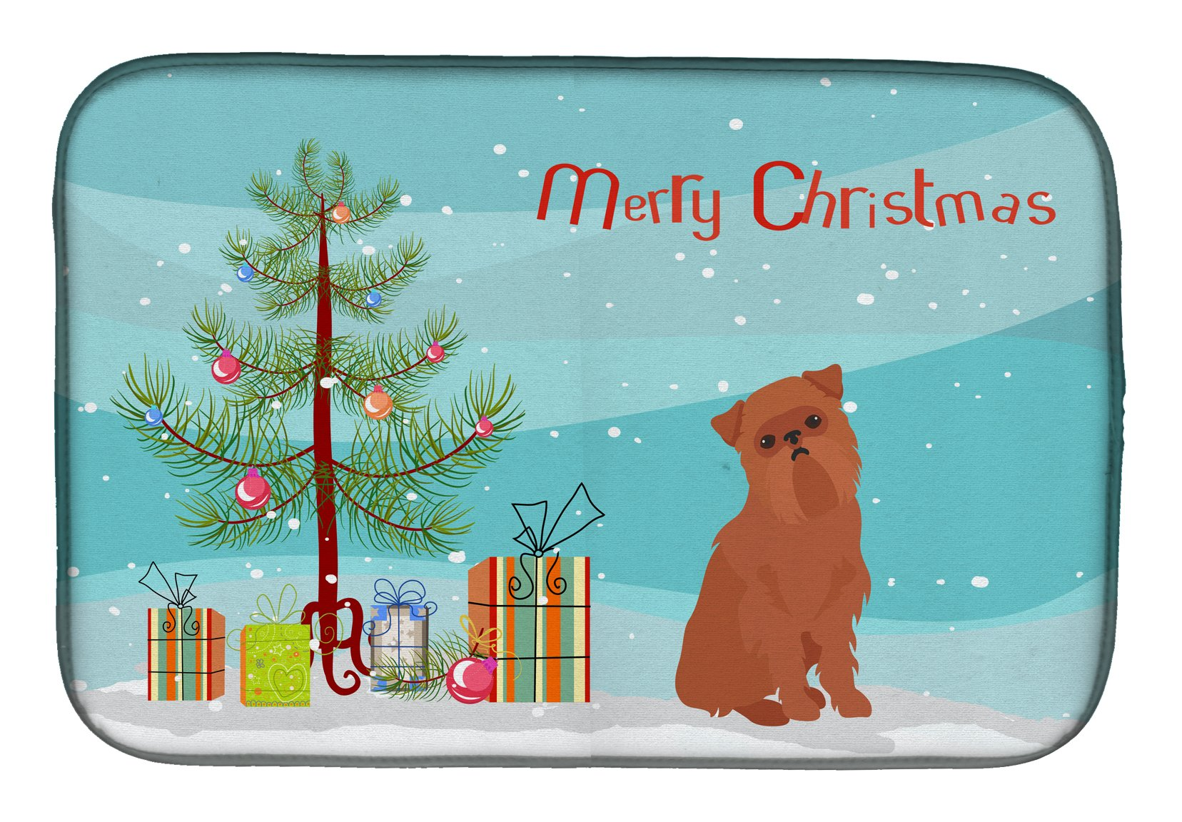 Brussels Griffon Christmas Tree Dish Drying Mat CK3494DDM by Caroline's Treasures