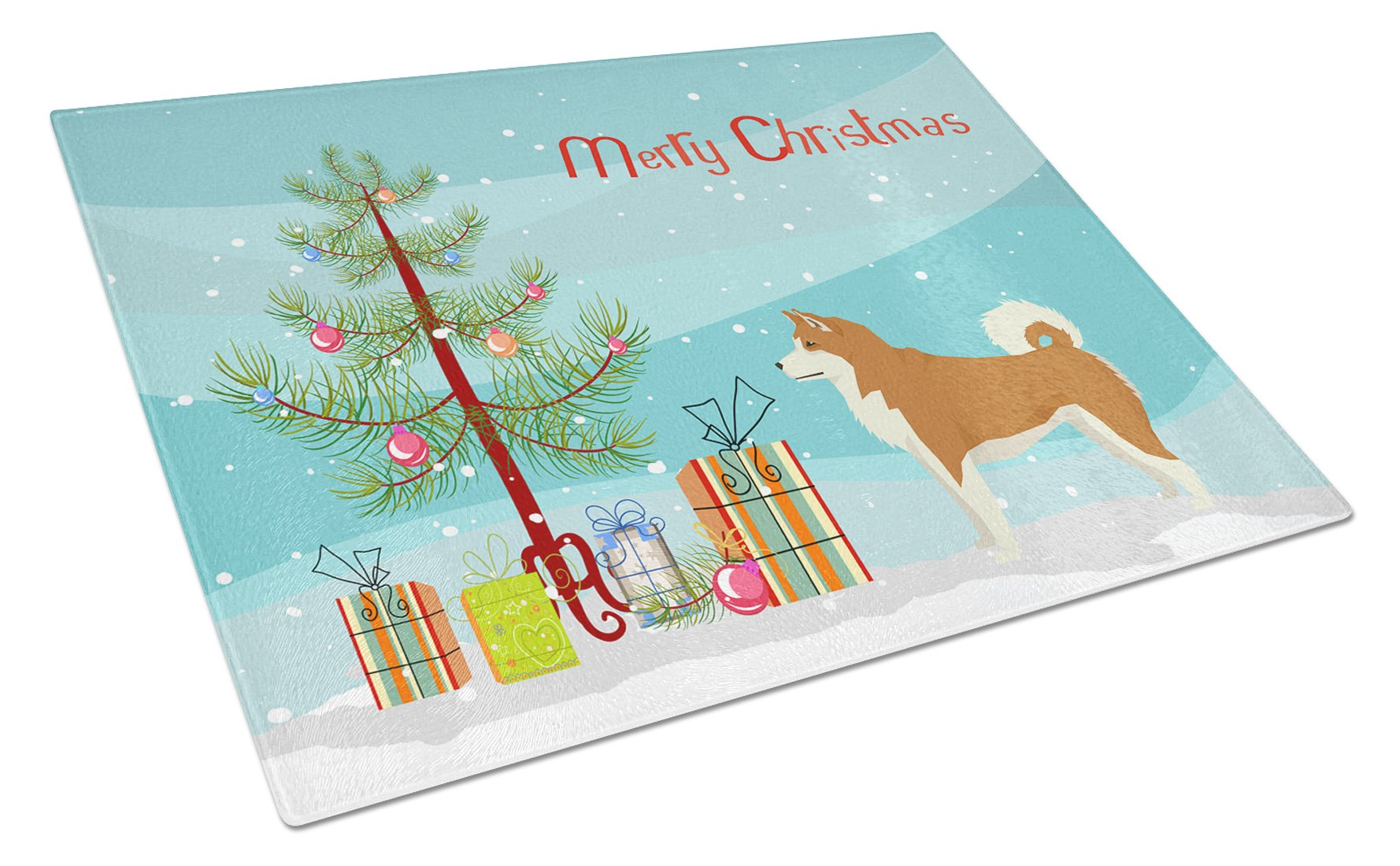 Buy this Akita Christmas Tree Glass Cutting Board Large CK3512LCB