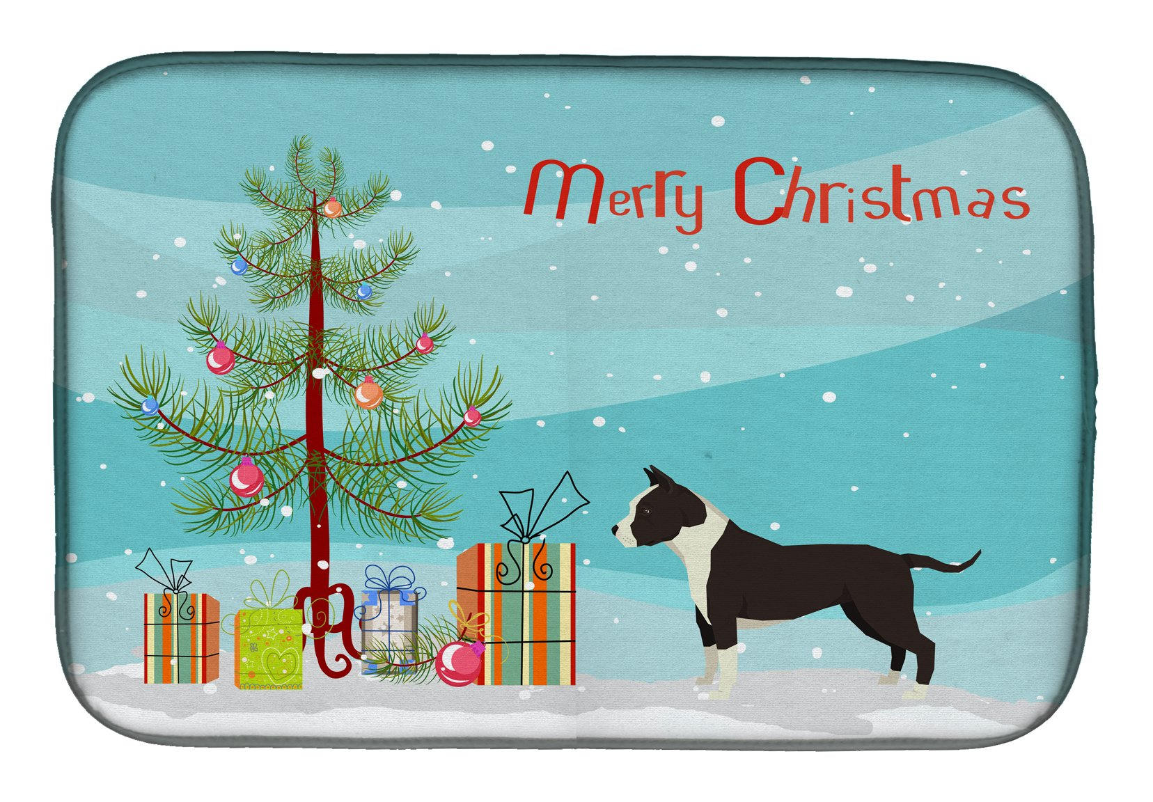 Buy this American Staffordshire Terrier Christmas Tree Dish Drying Mat CK3515DDM