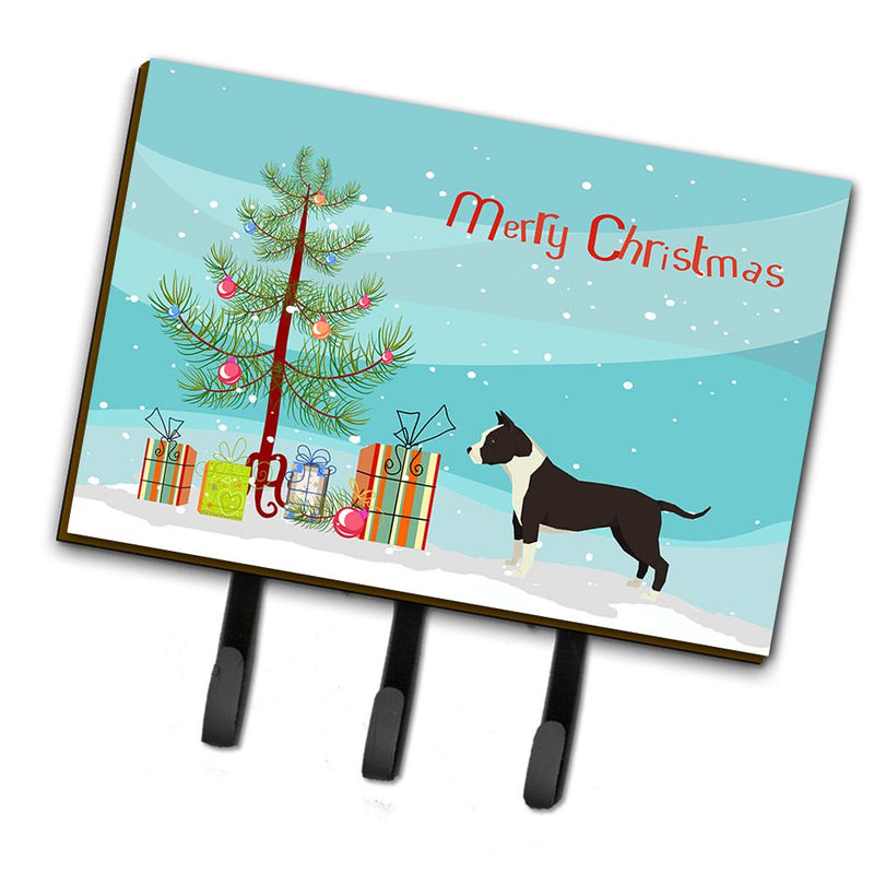 Buy this American Staffordshire Terrier Christmas Tree Leash or Key Holder CK3515TH68