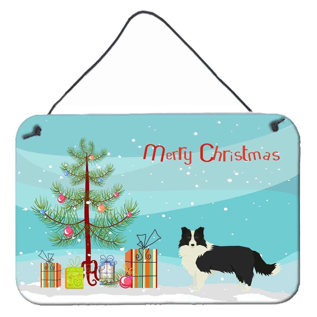 Buy this Border Collie Christmas Tree Wall or Door Hanging Prints CK3522DS812