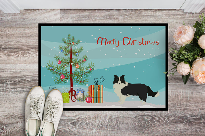 Buy this Border Collie Christmas Tree Indoor or Outdoor Mat 18x27 CK3522MAT