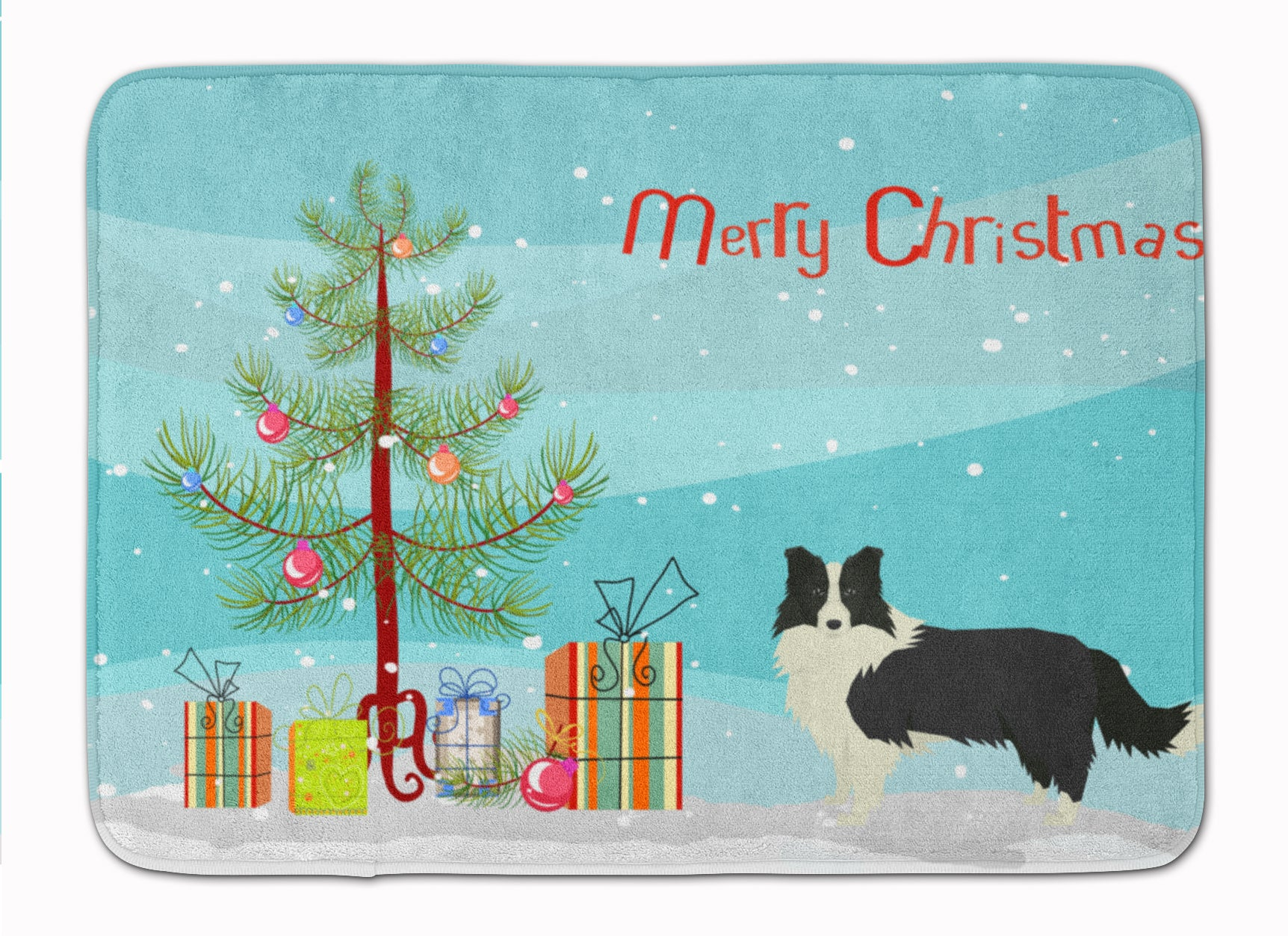 Buy this Border Collie Christmas Tree Machine Washable Memory Foam Mat CK3522RUG