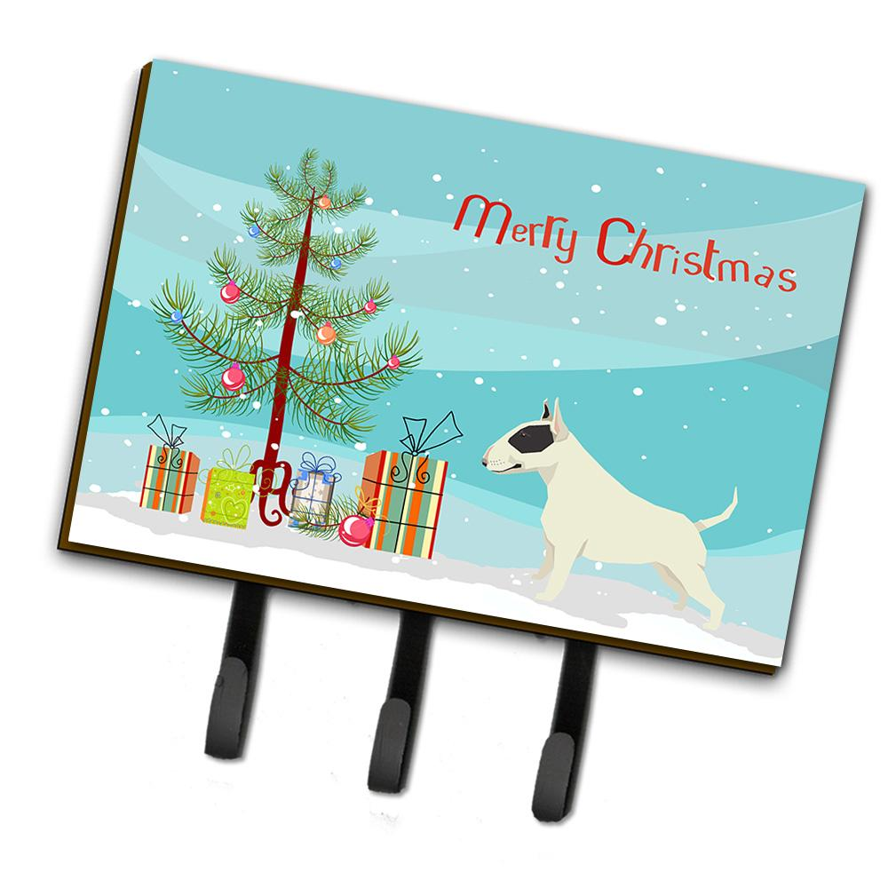 Buy this Black and White Bull Terrier Christmas Tree Leash or Key Holder CK3527TH68