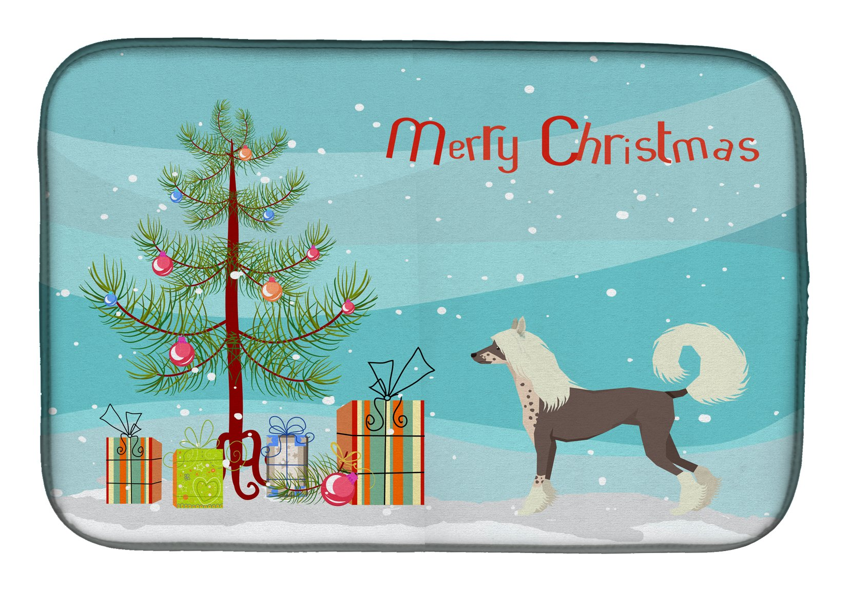 Buy this Chinese Crested Christmas Tree Dish Drying Mat CK3531DDM