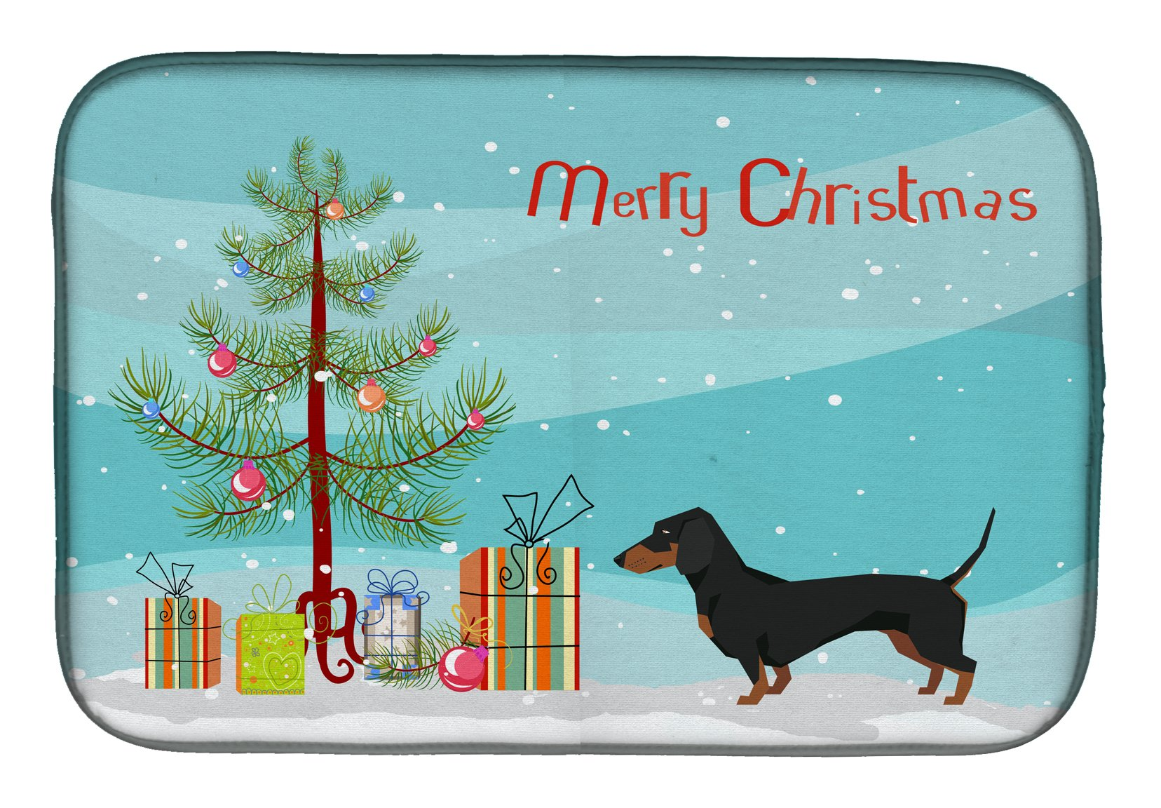 Buy this Dachshund Christmas Tree Dish Drying Mat CK3533DDM