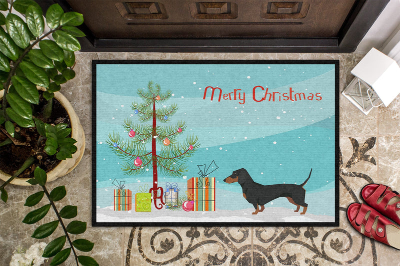 Buy this Dachshund Christmas Tree Indoor or Outdoor Mat 24x36 CK3533JMAT