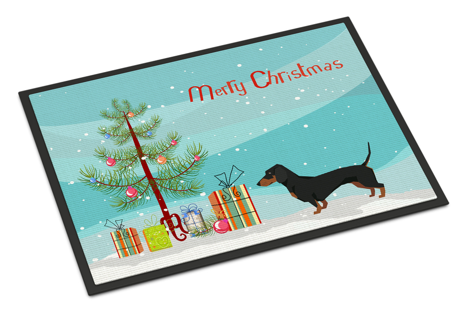 Buy this Dachshund Christmas Tree Indoor or Outdoor Mat 18x27 CK3533MAT