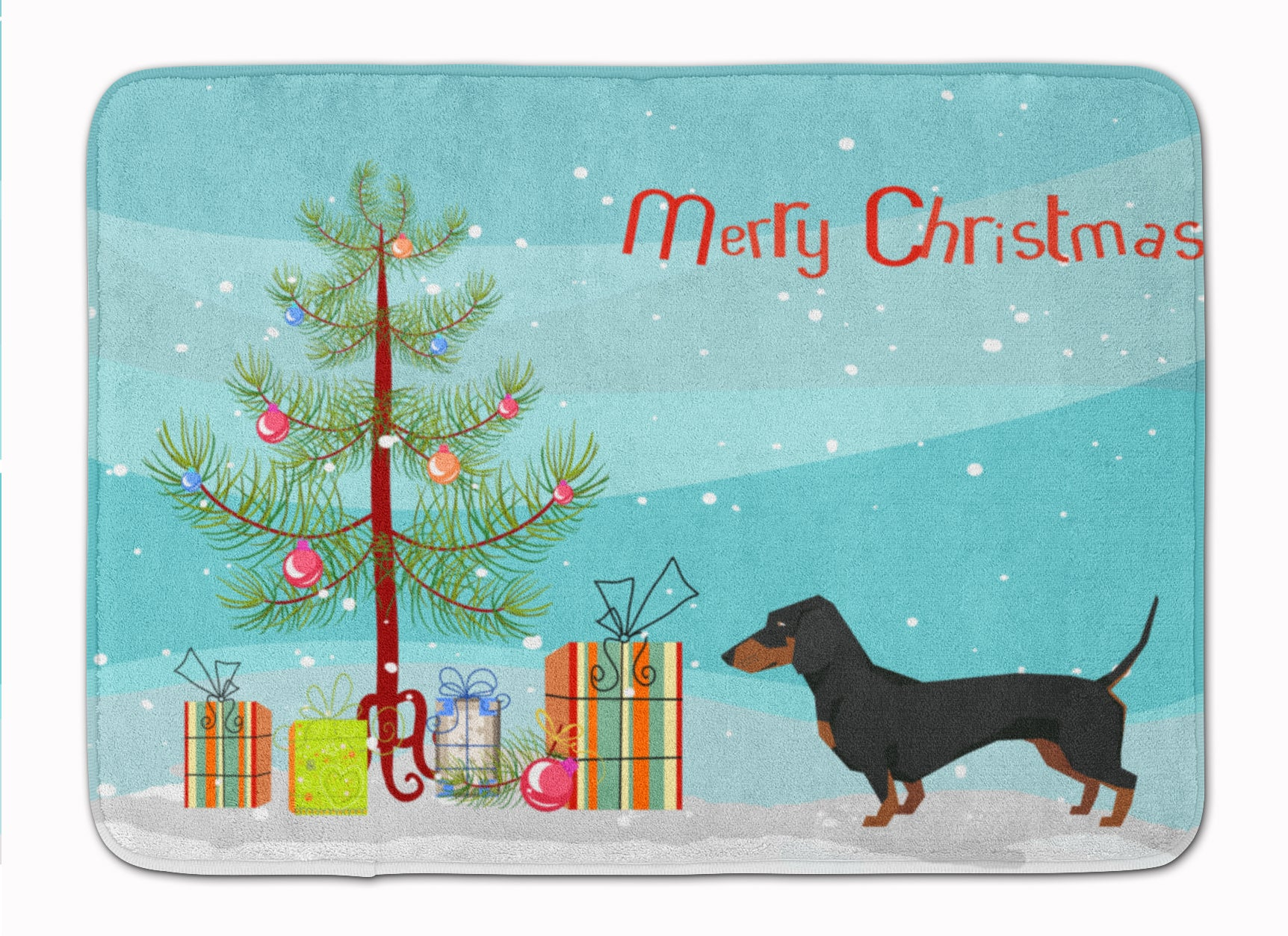 Buy this Dachshund Christmas Tree Machine Washable Memory Foam Mat CK3533RUG