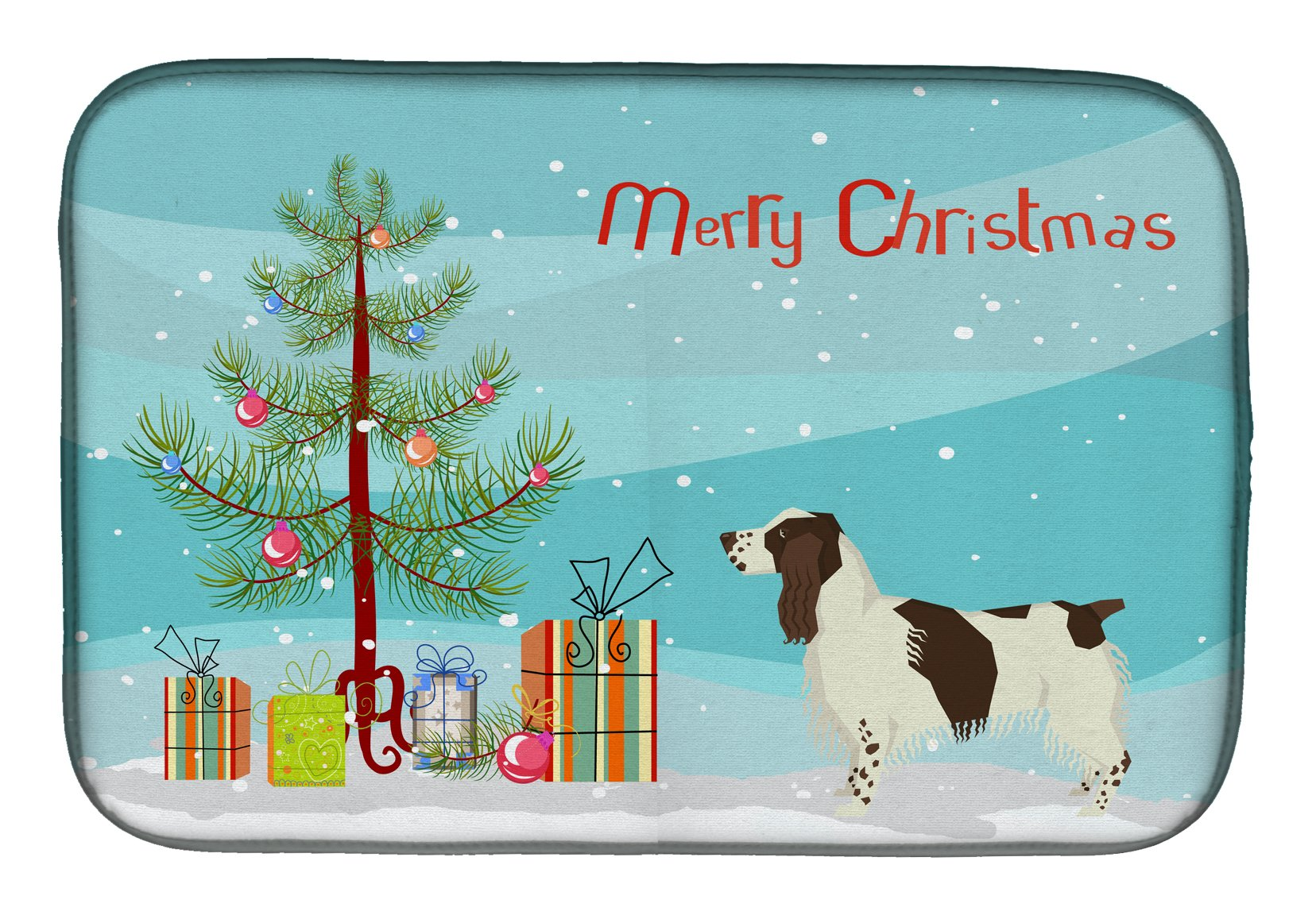 Buy this English Springer Spaniel Christmas Tree Dish Drying Mat CK3537DDM