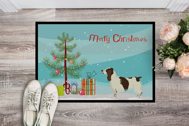 Buy this English Springer Spaniel Christmas Tree Indoor or Outdoor Mat 18x27 CK3537MAT