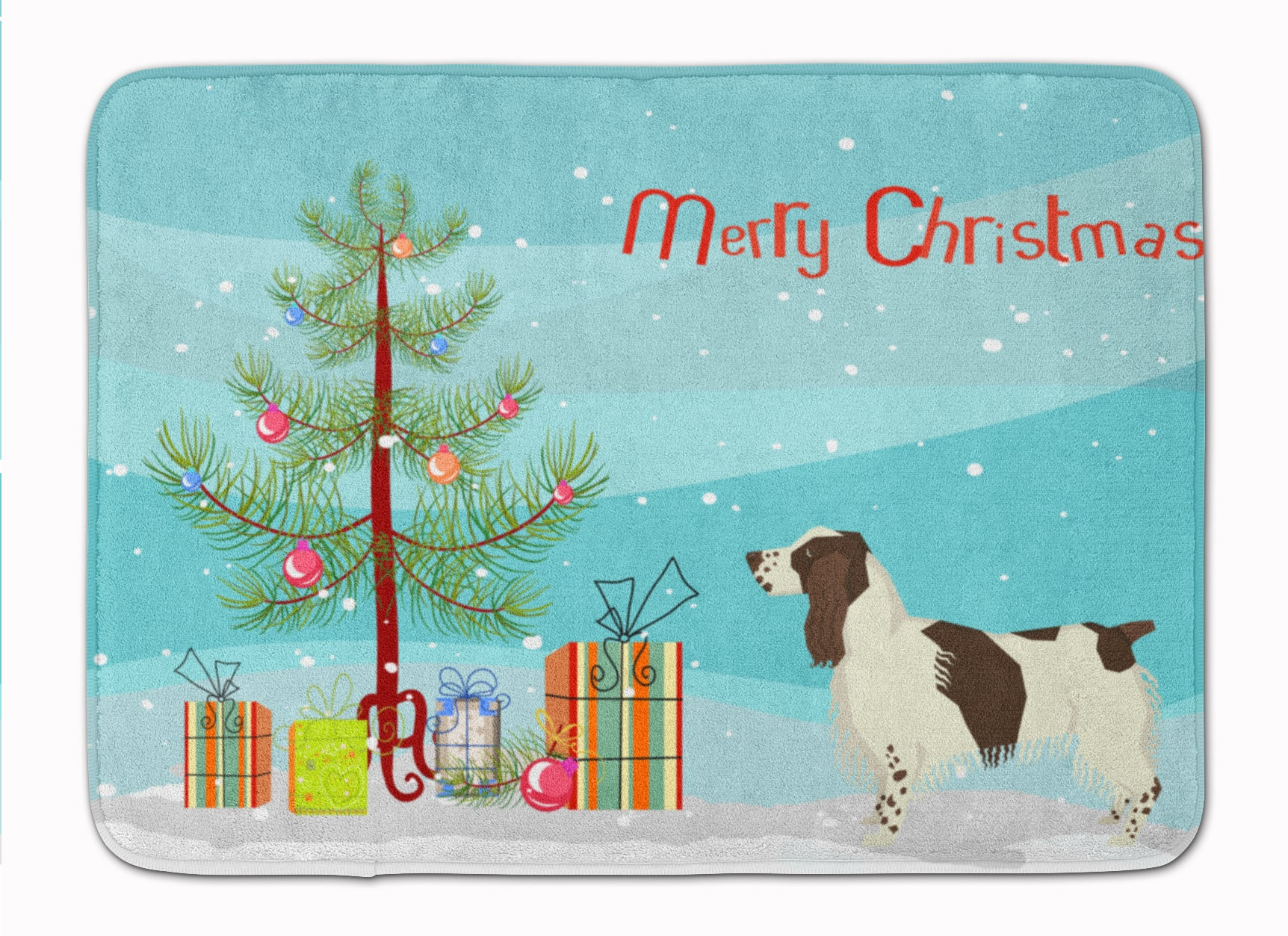 Buy this English Springer Spaniel Christmas Tree Machine Washable Memory Foam Mat CK3537RUG
