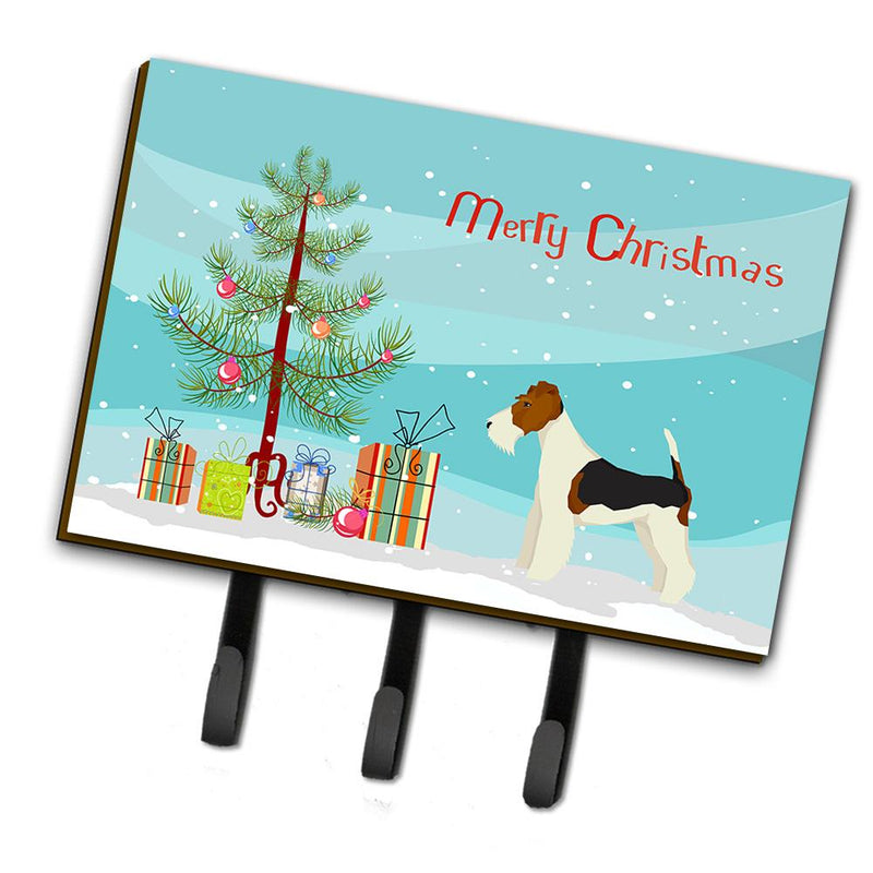 Buy this Fox Terrier Christmas Tree Leash or Key Holder CK3538TH68