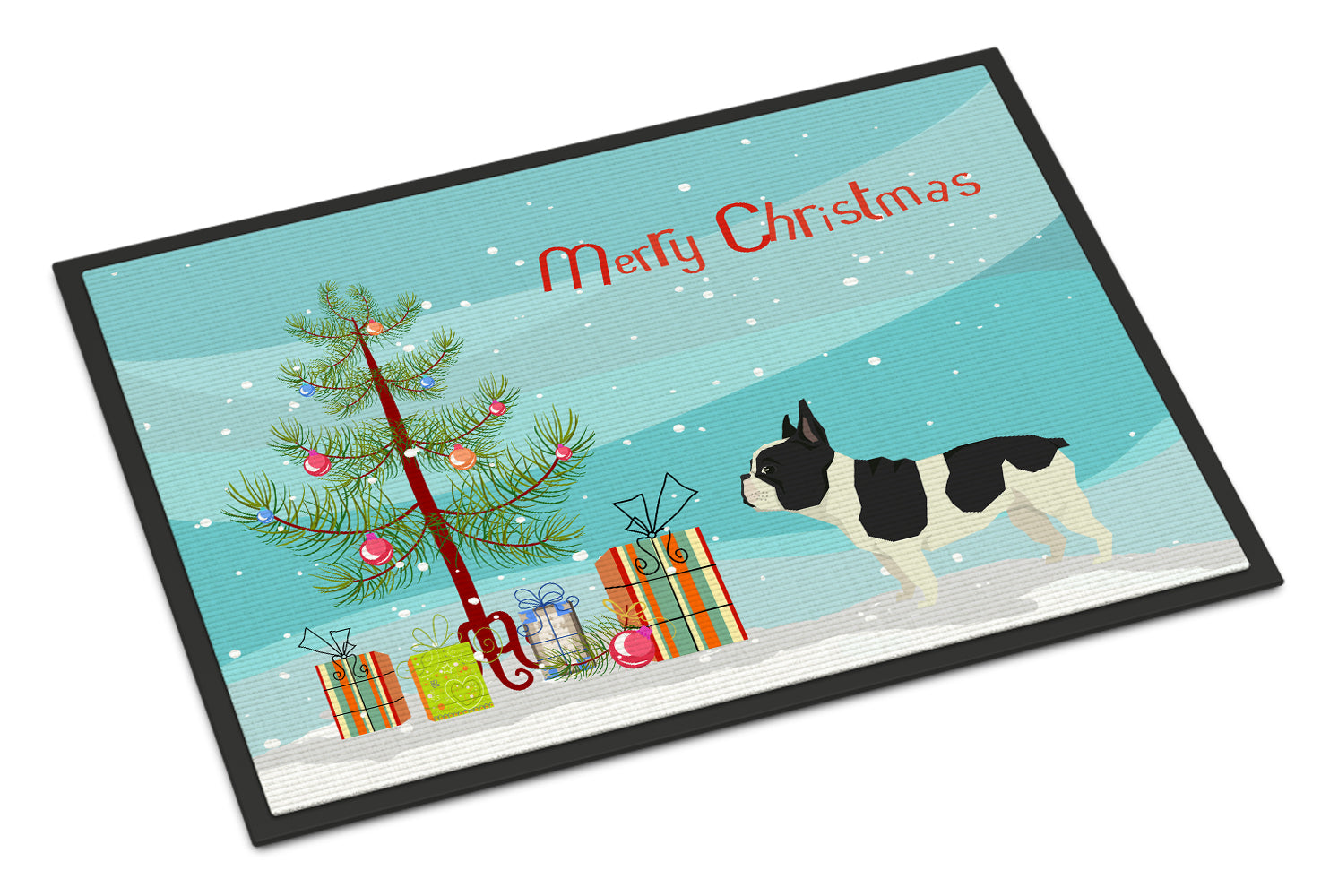 Buy this French Bulldog Christmas Tree Indoor or Outdoor Mat 18x27 CK3539MAT