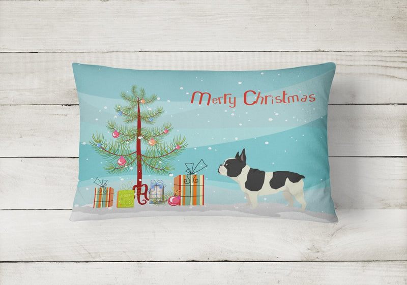 Buy this French Bulldog Christmas Tree Canvas Fabric Decorative Pillow CK3539PW1216