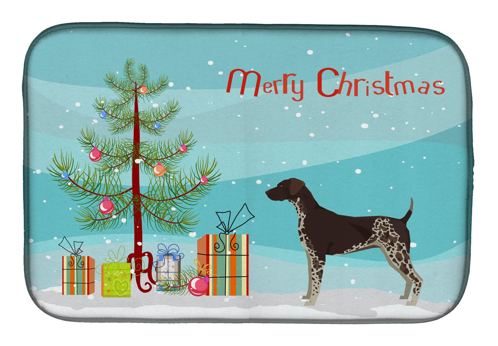Buy this German Shorthaired Pointer Christmas Tree Dish Drying Mat CK3541DDM