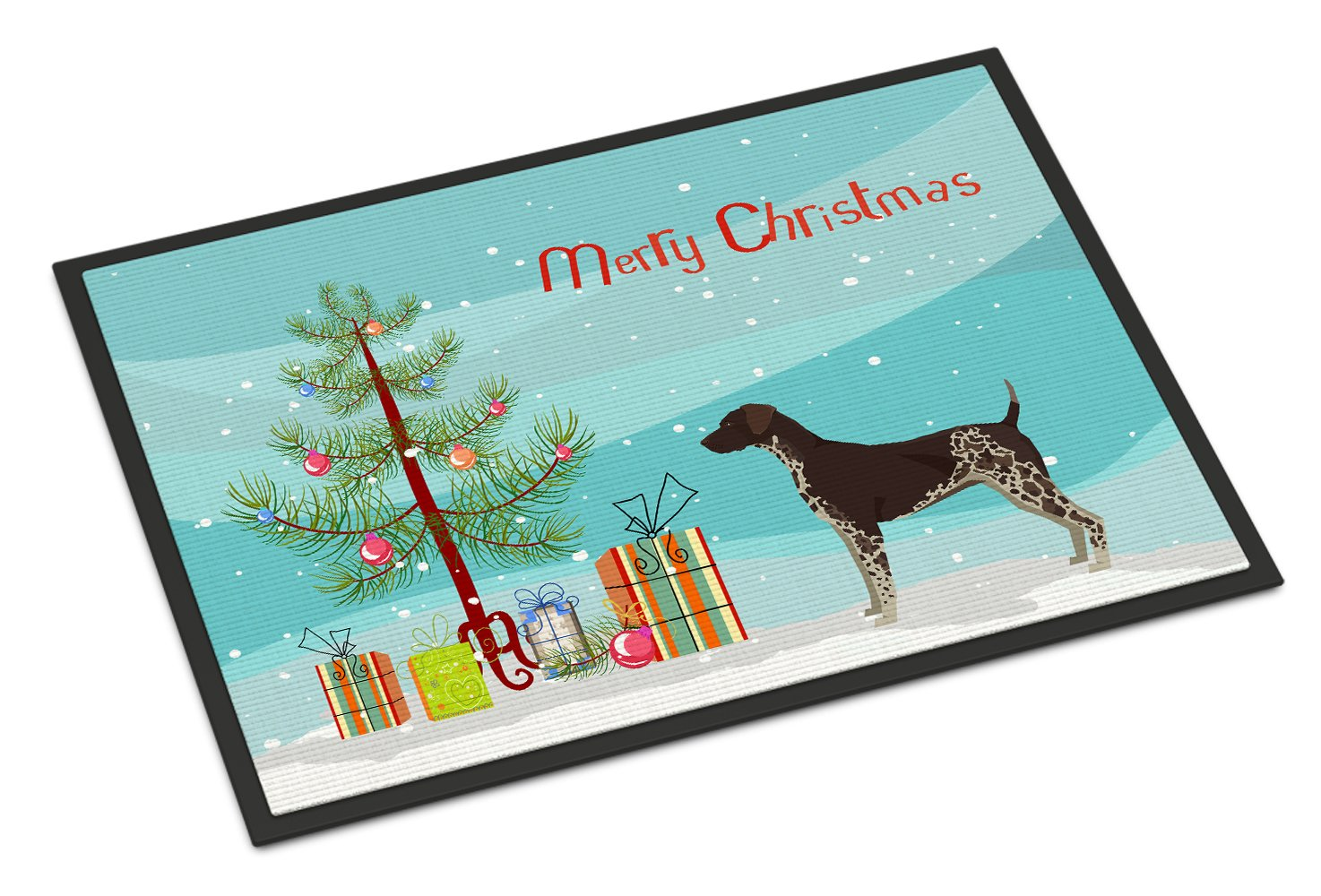 Buy this German Shorthaired Pointer Christmas Tree Indoor or Outdoor Mat 24x36 CK3541JMAT